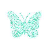 Butterfly in turquoise design