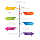 Modern 6 step infographic design template.Vector can be used for