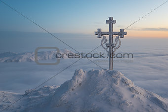 Cross - Christianity symbol surrounded with beautiful nature