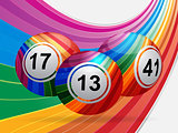 Stiped bingo balls background