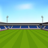 sports stadium with seating for spectators