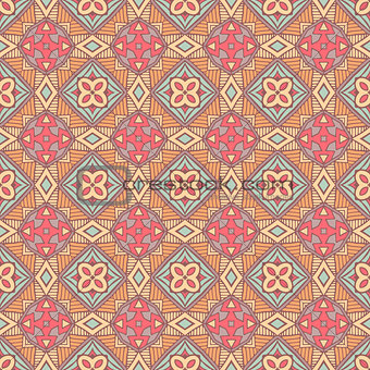 Abstract seamless ornamental pattern