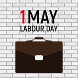 1 May Labour Day Poster or Banner. Vector Illustration