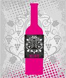 Pink wine bottle