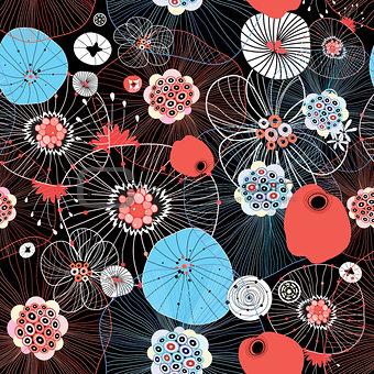 Bright multicolored seamless graphic pattern