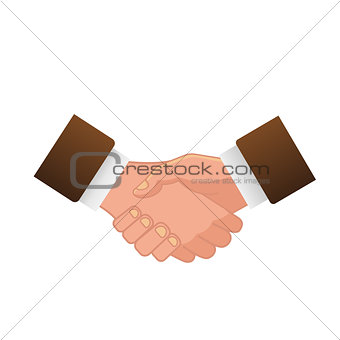 Business handshake or contract agreement icon for app and website