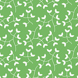 Dense tiny leaves seamless vector pattern.