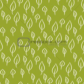 Foliage line seamless vector pattern.