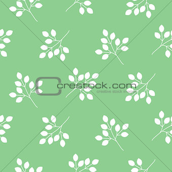 Small leaves seamless vector pattern.