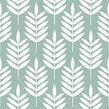 Palm leaves seamless vector pattern.