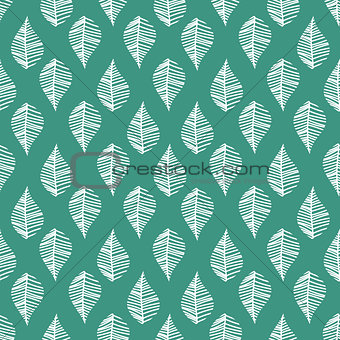 Abstract leaves seamless vector pattern.