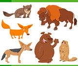cute wild animal characters set