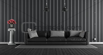 Black classic living room