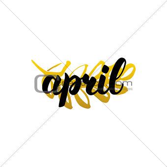 April Handwritten Lettering