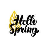 Handwritten Lettering Hello Spring