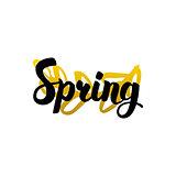 Handwritten Lettering Spring