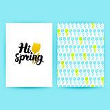 Hi Spring Trendy Poster