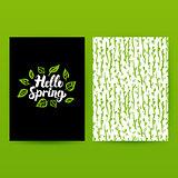 Hello Spring Green Poster
