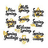 Hello Spring Hand Drawn Quotes