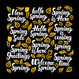 Hello Spring Calligraphy Design
