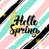 Hello Spring Card Design