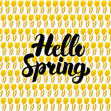 Hello Spring Postcard Design