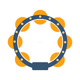 Tambourine, Part Of Musical Instruments Set Of Realistic Cartoon Vector Isolated Illustrations