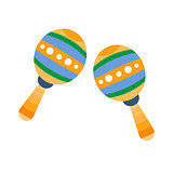 Maracas, Part Of Musical Instruments Set Of Realistic Cartoon Vector Isolated Illustrations