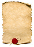 parchment with wax seal