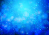Blue bokeh background for Christmas design
