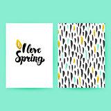 I Love Spring Trendy Poster