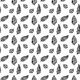 Leaf Brush Seamless Pattern
