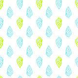Nature Plants Brush Seamless Pattern
