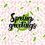 Spring Greetings Handwritten Card