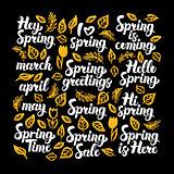 Spring Calligraphy Design