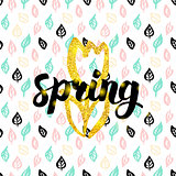 Spring Fower Handwritten Card