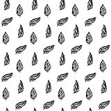 Plant Leaf Brush Seamless Pattern