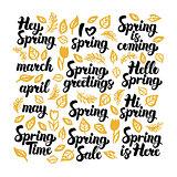 Spring Handwritten Lettering