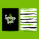 Spring Sale Green Poster
