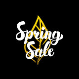 Spring Sale Handwritten Calligraphy