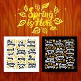 Spring is Here Lettering Postcards
