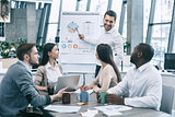 Group of people business meeting team work concept