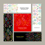 Business cards set, abstract geometric design