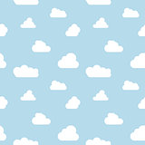 clouds seamless pattern vrctor sky