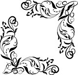Vector corner element, vignettes ornate frame
