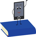 Books end ebooks concept. Vector illustration