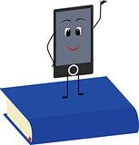 Books end ebooks concept. Vector illustration