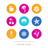Simple modern nature icons collection