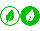 two green leaf icons