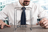 Business Newtons cradle